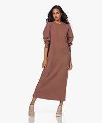 extreme cashmere N°106 Weird Knitted Cashmere Maxi Dress - Terra