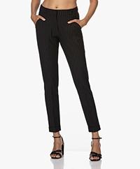 KYRA Fabien Interlock Jersey Pinstripe Pants - Black