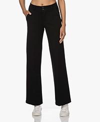 KYRA Hetty Ponté Jersey Pantalon - Zwart
