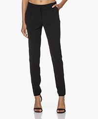 JapanTKY Gigi Pleated Travel Jersey Pants - Deep Black