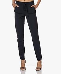 JapanTKY Pyna Bonded Travel Jersey Pants - Black Blue