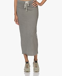 James Perse Fleece Jersey Midi Skirt - Signet Pigment