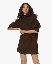 By Malene Birger Derina Mohair Mix Oversized Turtleneck Sweater - Chestnut