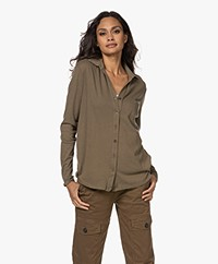 Majestic Filatures Cotton Deluxe Jersey Blouse - Militaire