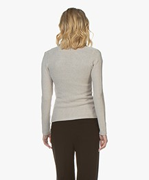 Belluna Eleven Pique Knitted Blazer - Beige Melange