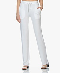 Majestic Filatures Viscose French Terry Sweatpants - Wit