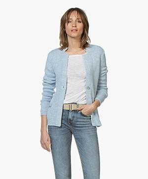 Belluna Pigalle Linen Blend Cardigan - Light Blue