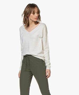 Marie Sixtine Ines V-neck Sweater - Jasmine