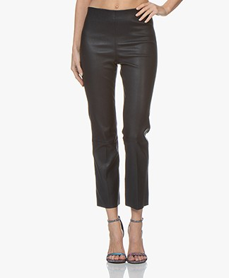 By Malene Birger Florentina Leather Pants - Night Sky