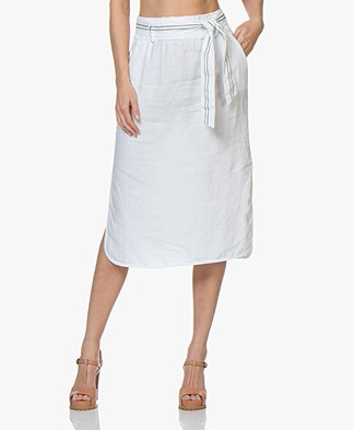 Josephine & Co Carlos Linen Skirt - White