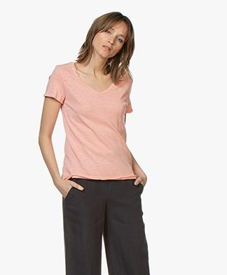 American Vintage Sonoma Slub Jersey T-shirt - Shrimp