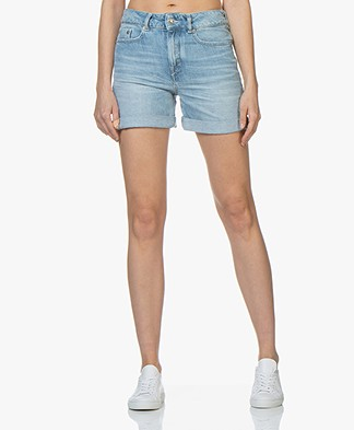 Drykorn Bumble Denim Shorts - Light Blue