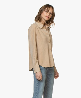 Majestic Suede Leather Shirt - Ficelle