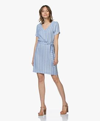 Josephine & Co Carmelia Striped Chambray Dress - Blue