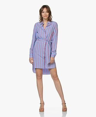 Josephine & Co Clay Striped Shirt Dress - Blue