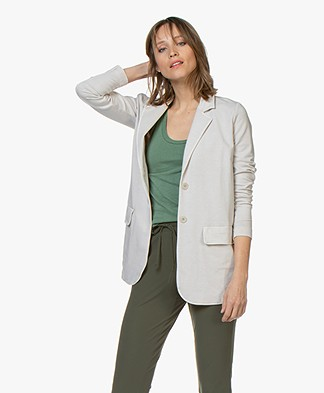 no man's land Straight Jersey Blazer - Linen