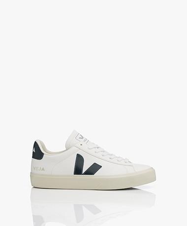 VEJA Campo Low Logo Leren Sneakers - Extra Wit/Nautico