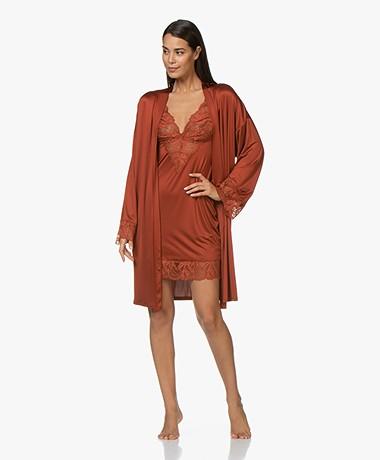 HANRO Lynn Viscose Jersey Kimono - Cayenne