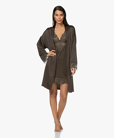 HANRO Lynn Viscose Jersey Kimono - Cypress