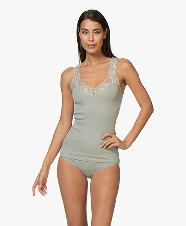 HANRO Lace Delight Top - Soft Pistachio