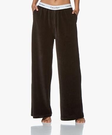 Calvin Klein Ribfluwelen Jersey Sweatpants - Zwart