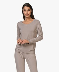 HANRO Modal Yoga Long Sleeve - Taupe