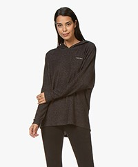 Calvin Klein Fleece Jersey Capuchontrui - Zwart