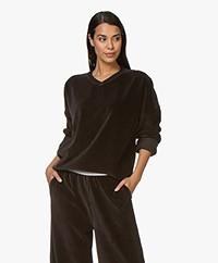 Calvin Klein Ribbed Velvet Sweatshirt - Black