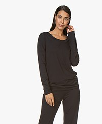 HANRO Modal Yoga Long Sleeve - Black