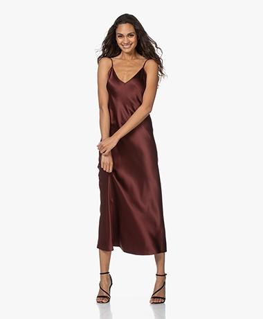 Joseph Clea Silk Satin Slip Dress - Ganache