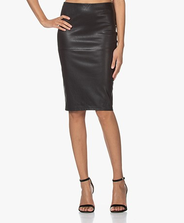 By Malene Birger Floridia Lambs Leather Pencil Skirt - Black