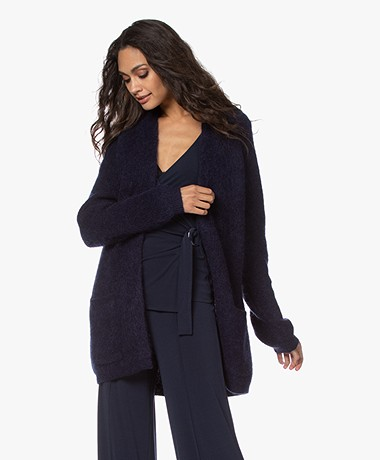 By Malene Birger Belinta Mohair Blend Cardigan - Night Sky