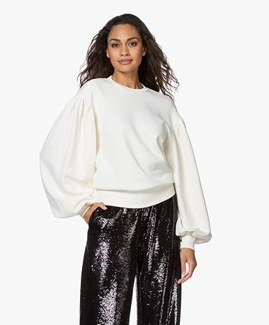 Les Coyotes de Paris Larice Puff Sleeve Sweater - Off-white