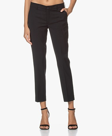 Filippa K Luisa Cropped Cool Wool Pants - Black