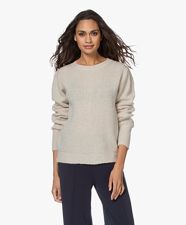 by-bar Sofie Wool Blend Round Neck Pullover - Sand