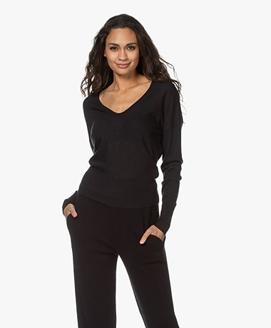 Rag & Bone Mandee Cashmere U-neck Sweater - Black