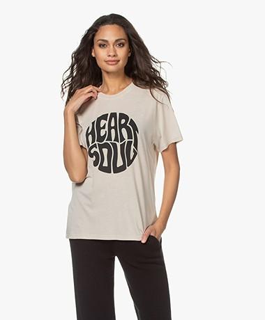 IRO Heartso Print Lyocell Mix T-shirt - Beige