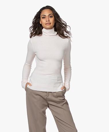 American Vintage Damsville Wool Blend Turtleneck Sweater - Icing
