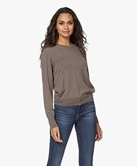 Filippa K Merino R-neck Sweater - Dark Taupe