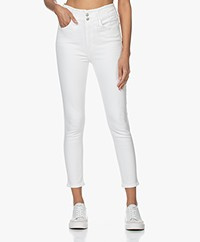 Rag & Bone Darted Ankle Skinny Jeans - Off-white