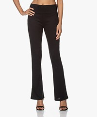 Rag & Bone The Knit Rib Flared Jersey Broek - Zwart
