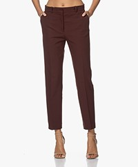 Joseph Coleman Checkered Stretch Pants - Ganache
