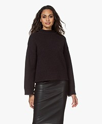 extreme cashmere N°163 Ken Cashmere Mock Sweater - Dark Brown