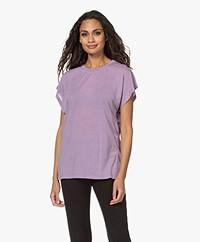 IRO Paulina Lyocell Mix T-shirt - Vintage Purple