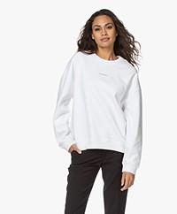 IRO Livia Logo French Terry Sweatshirt - White