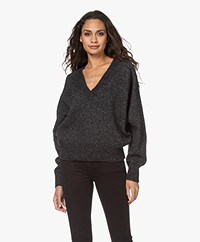 IRO Dustie Lurex V-neck Pullover - Anthracite