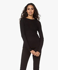 Drykorn Erma Structured Long Sleeve - Black