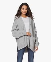 extreme cashmere N°24 Tokio Cashmere Button-through Cardigan - Grey