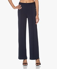 By Malene Birger Miela Crepe Jersey Pants - Sky Captain