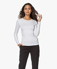 Filippa K Cotton Stretch Long Sleeve - White